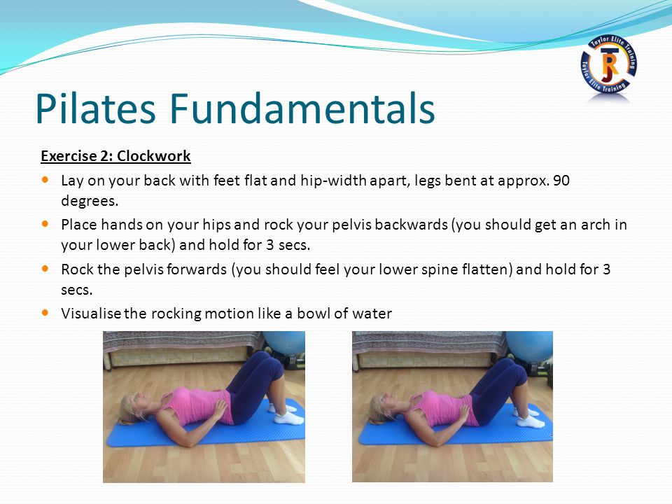 Pilates Fundamentals Exercise 2: Clockwork