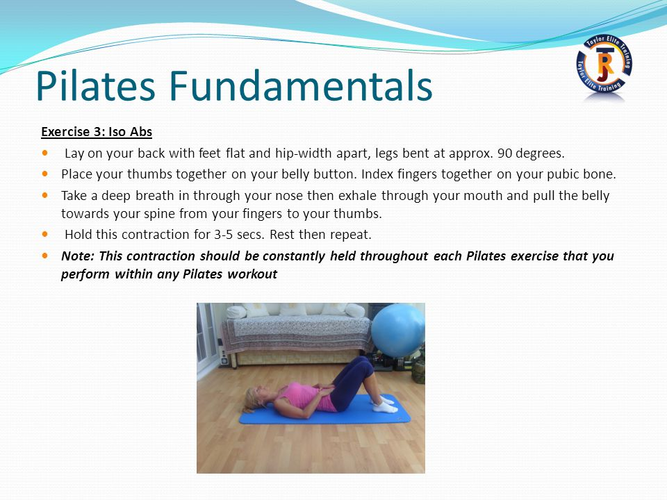 Pilates Fundamentals Exercise 3: Iso Abs