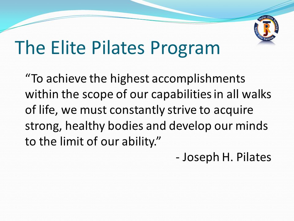 The Elite Pilates Program