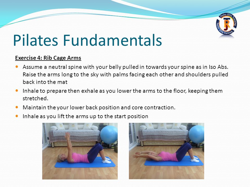 Pilates Fundamentals Exercise 4: Rib Cage Arms