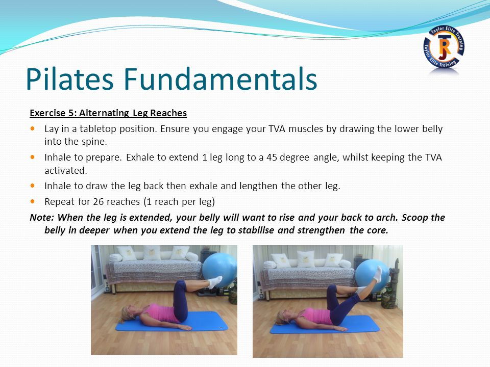 Pilates Fundamentals Exercise 5: Alternating Leg Reaches
