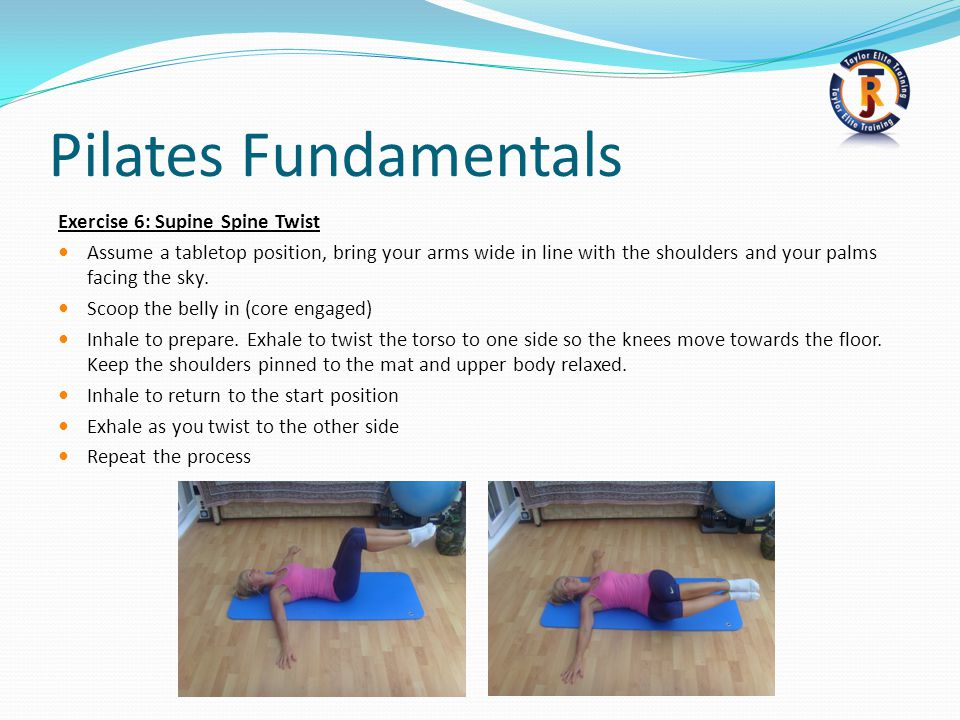 Pilates Fundamentals Exercise 6: Supine Spine Twist