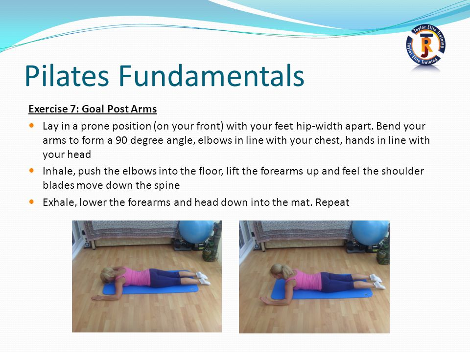 Pilates Fundamentals Exercise 7: Goal Post Arms