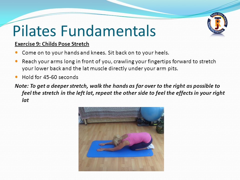 Pilates Fundamentals Exercise 9: Childs Pose Stretch
