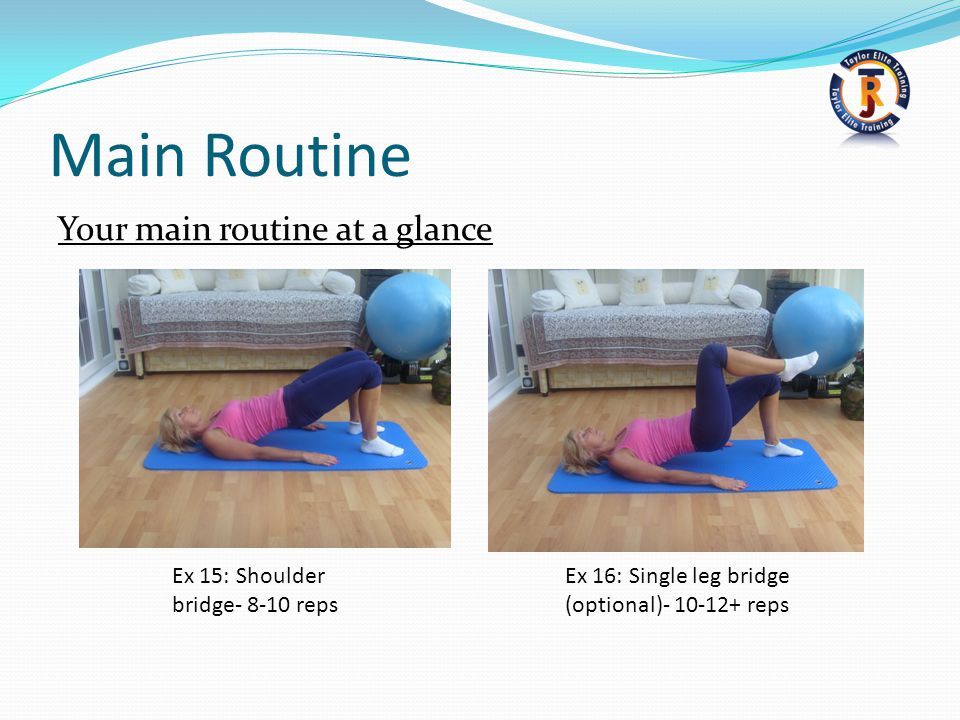 Main Routine Your main routine at a glance