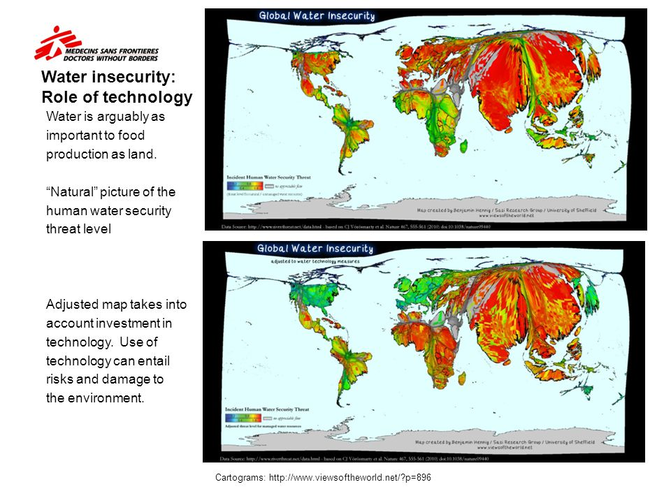 Water insecurity: Role of technology
