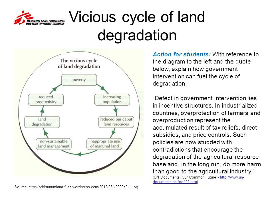 Vicious cycle of land degradation