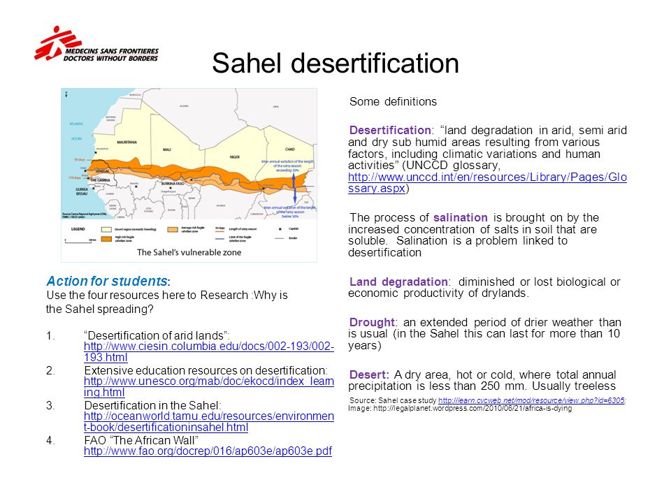 Sahel desertification