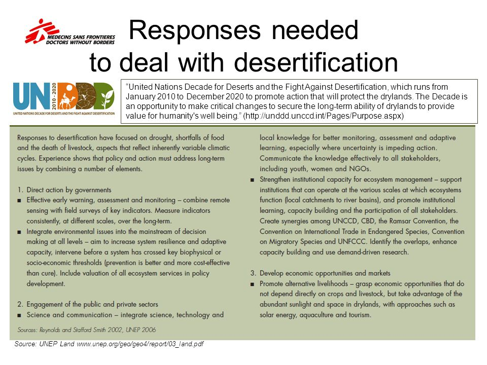 Responses needed to deal with desertification