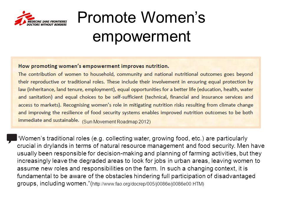 Promote Women's empowerment