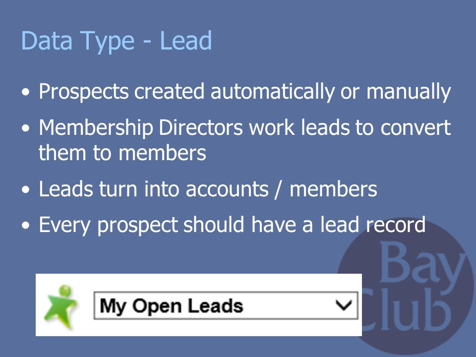Data Type - Lead Prospects created automatically or manually