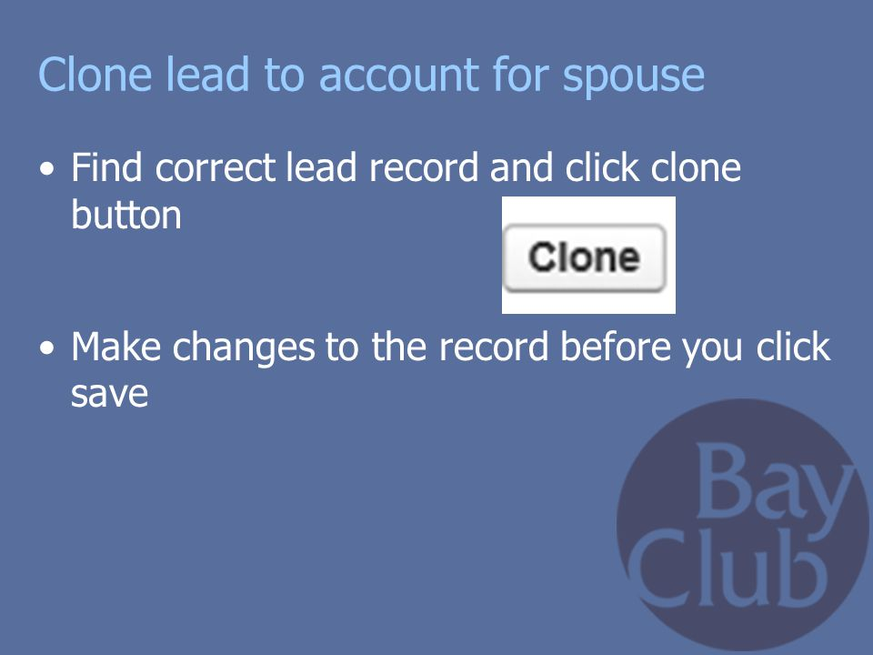 Clone lead to account for spouse