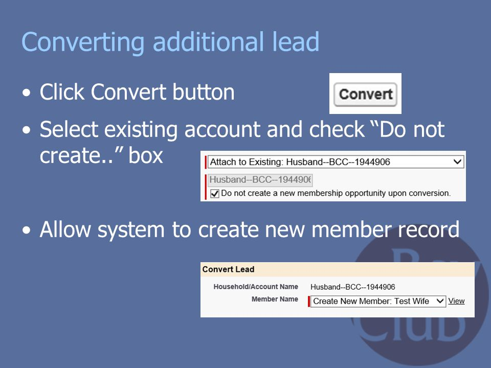 Converting additional lead