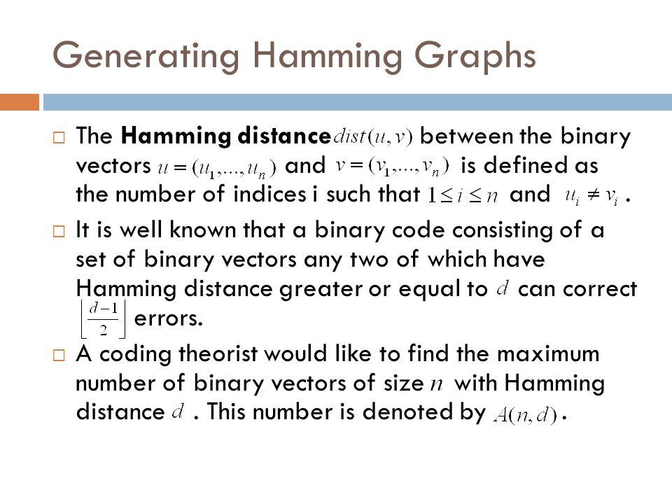 Generating Hamming Graphs