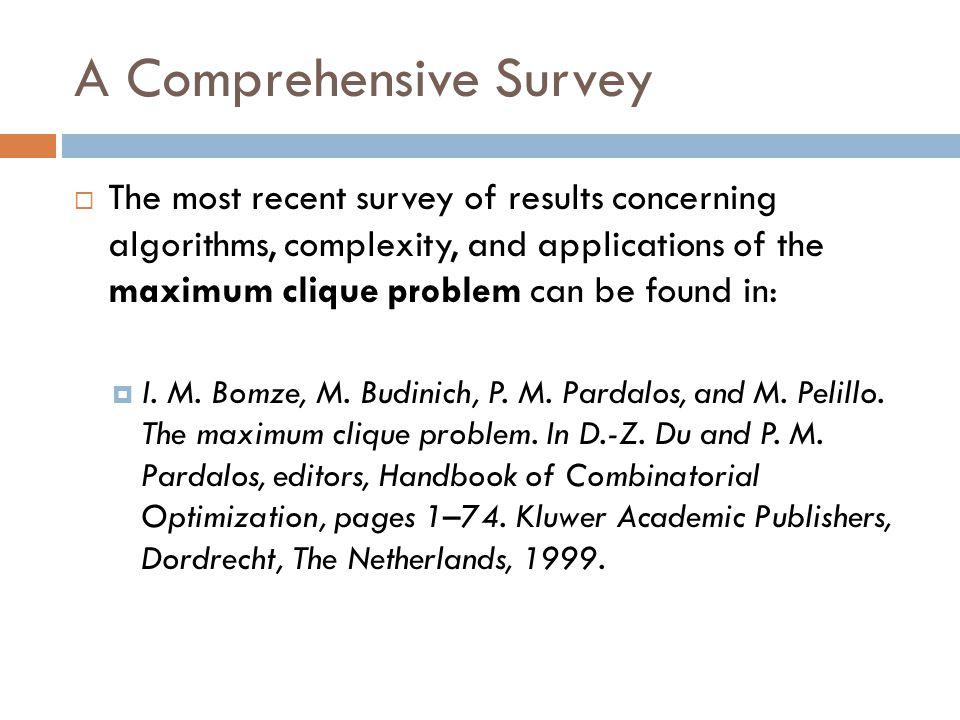 A Comprehensive Survey