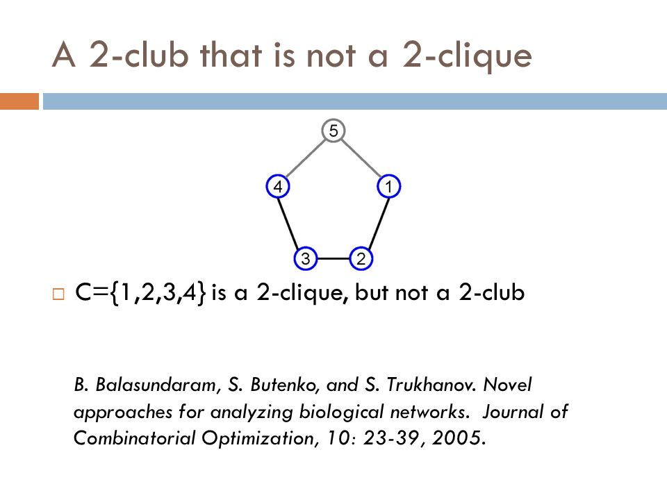 A 2-club that is not a 2-clique