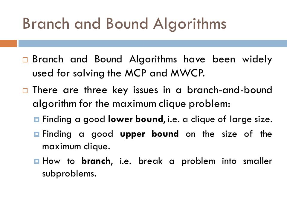 Branch and Bound Algorithms