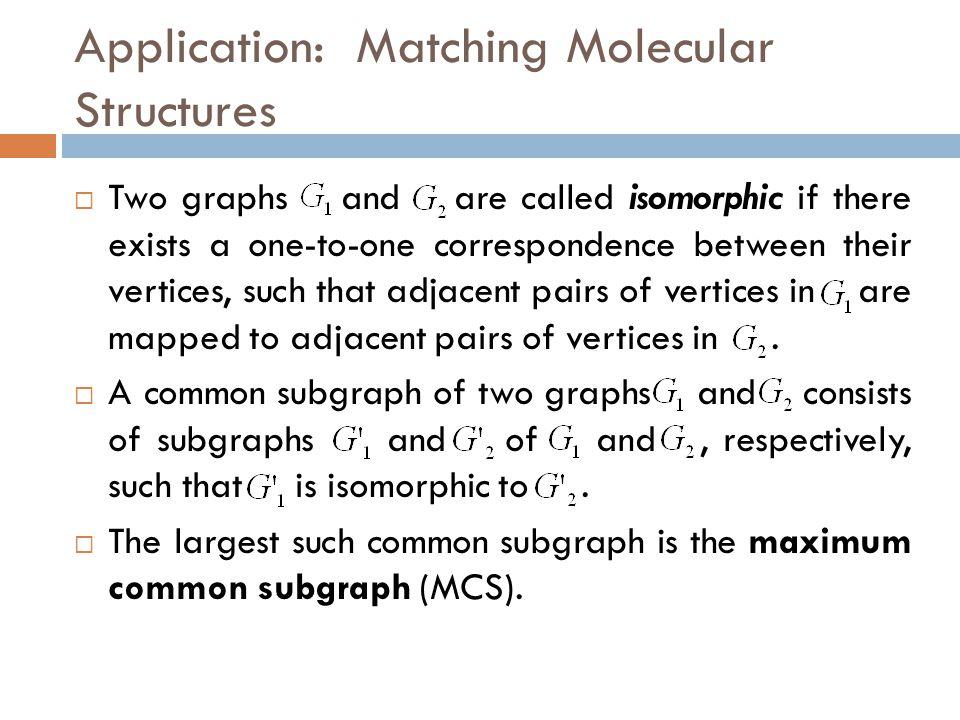 Application: Matching Molecular Structures