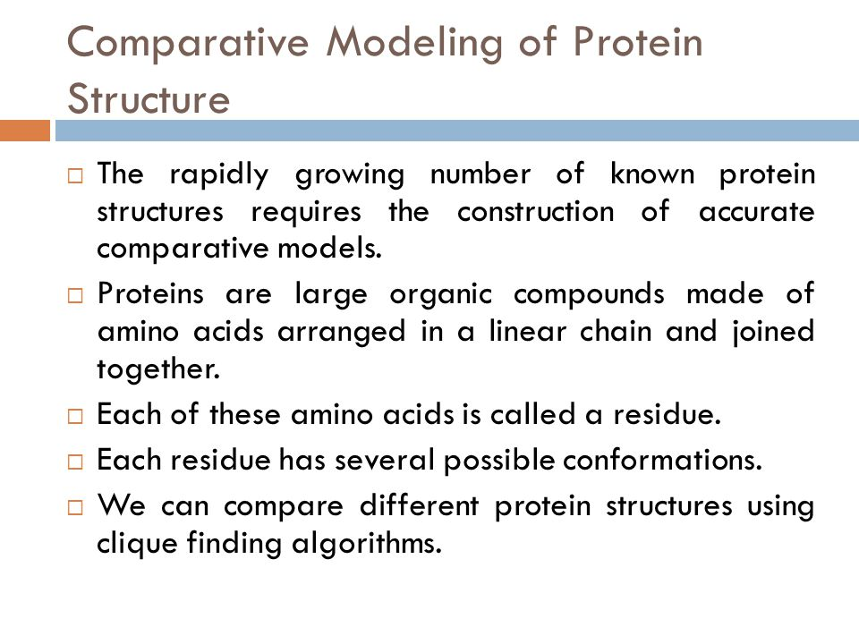 Comparative Modeling of Protein Structure