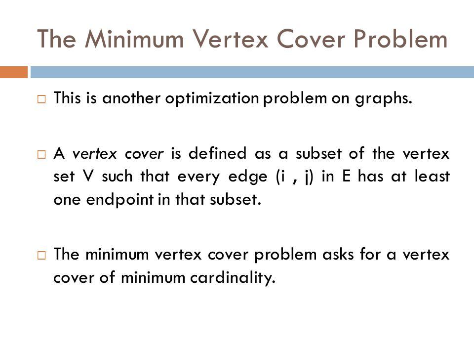 The Minimum Vertex Cover Problem