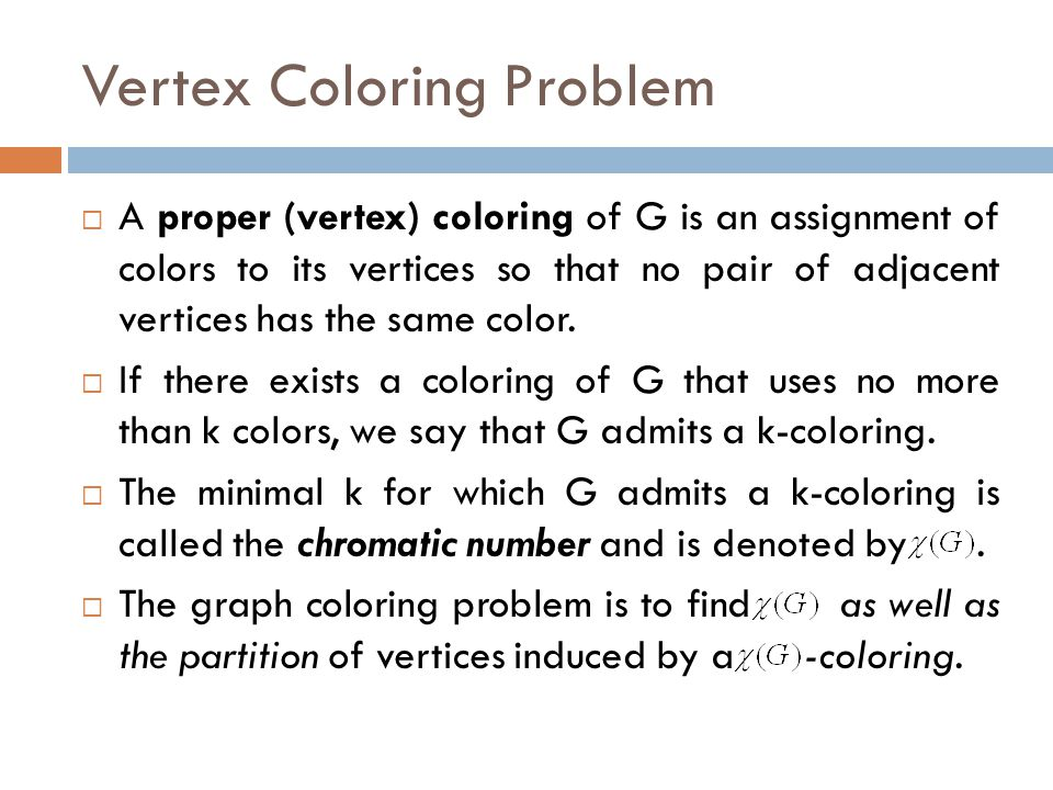 Vertex Coloring Problem