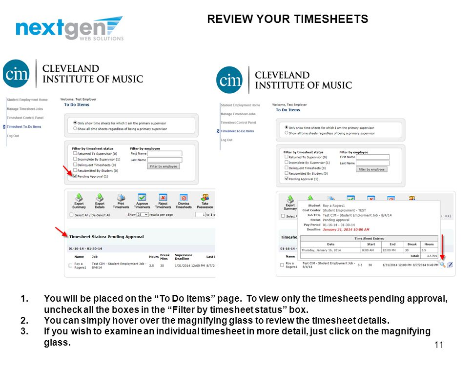 REVIEW YOUR TIMESHEETS