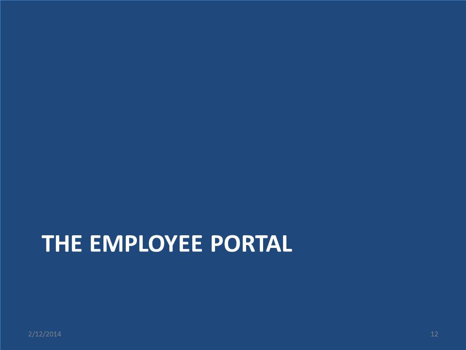 The Employee portal 2/12/2014