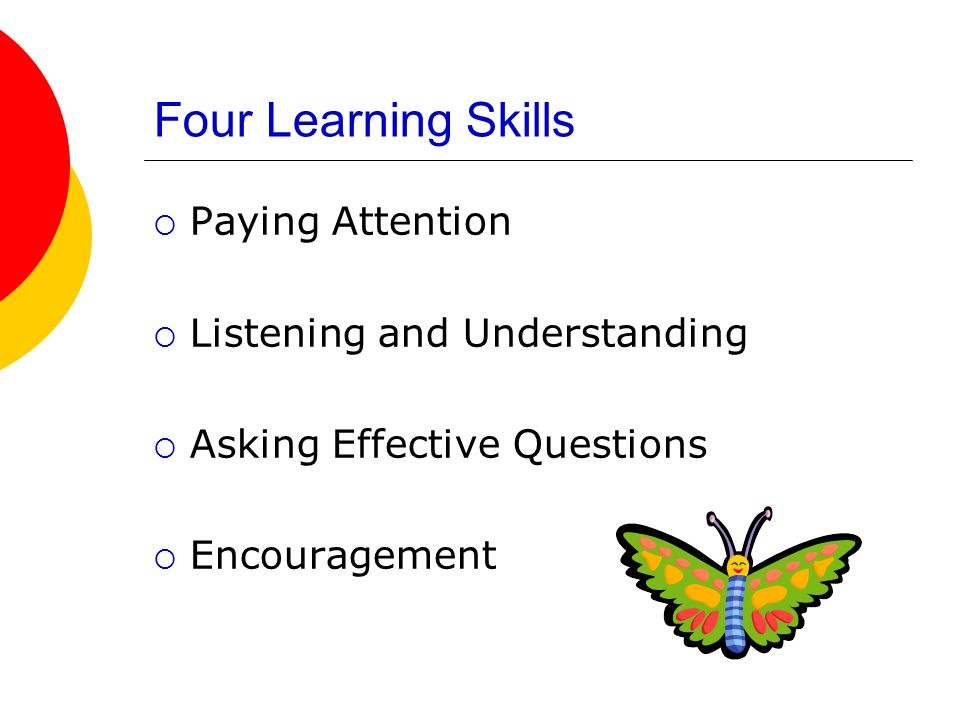 Four Learning Skills Paying Attention Listening and Understanding