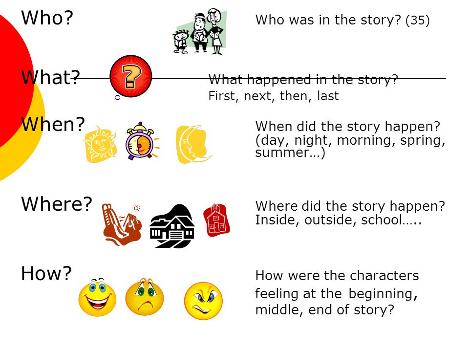 Who Who was in the story (35) What What happened in the story