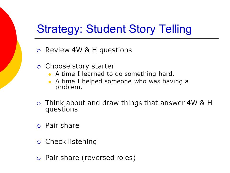 Strategy: Student Story Telling