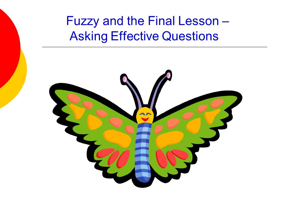 Fuzzy and the Final Lesson – Asking Effective Questions