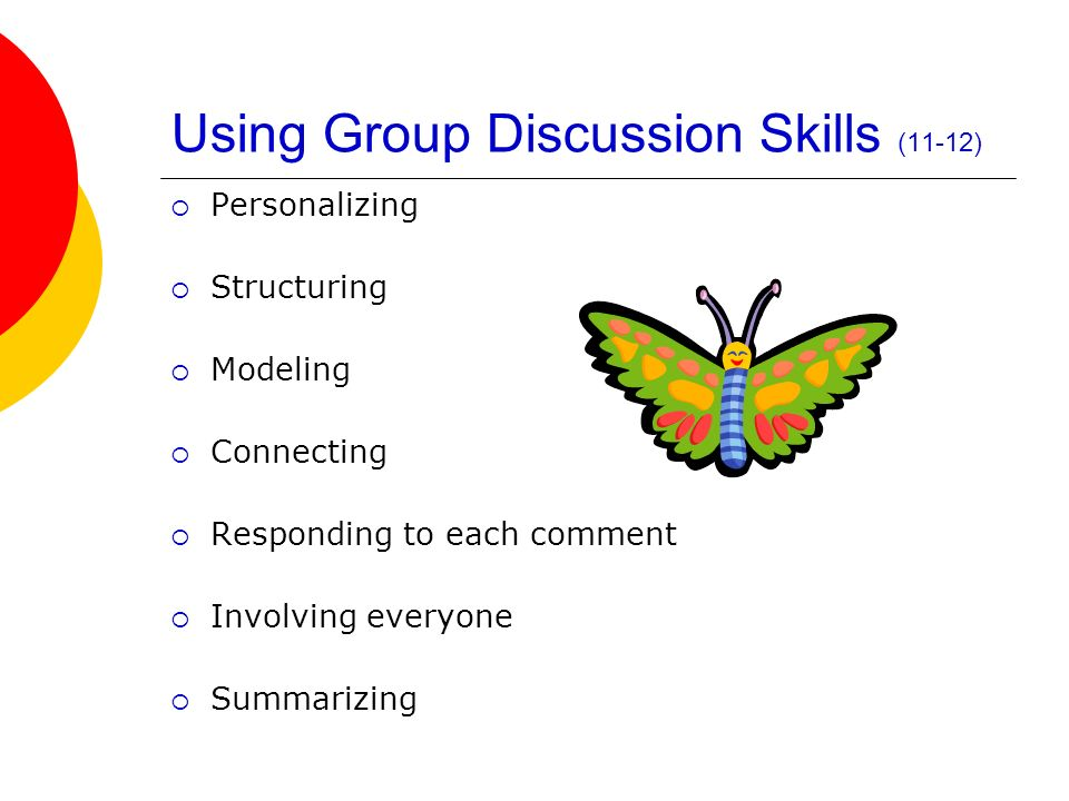 Using Group Discussion Skills (11-12)