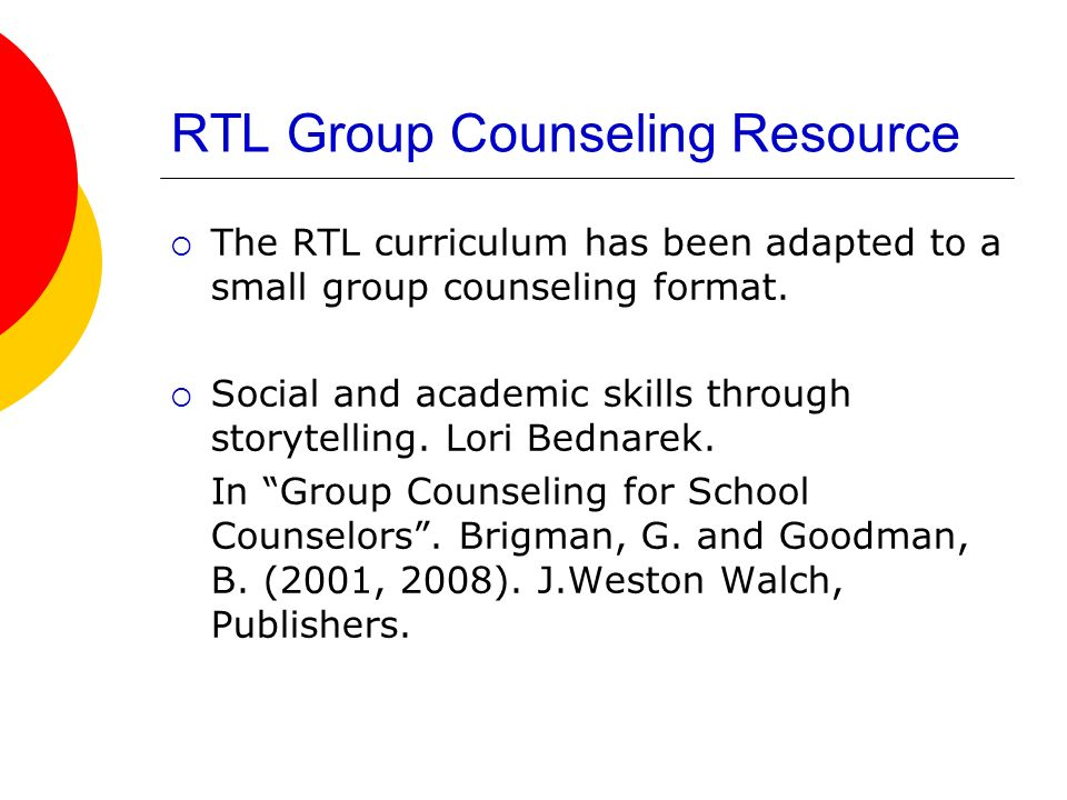 RTL Group Counseling Resource