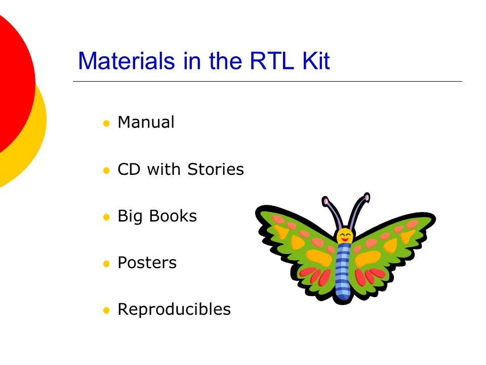 Materials in the RTL Kit