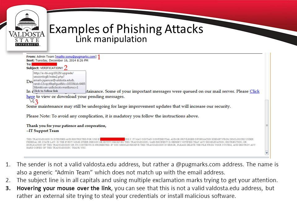Examples of Phishing Attacks