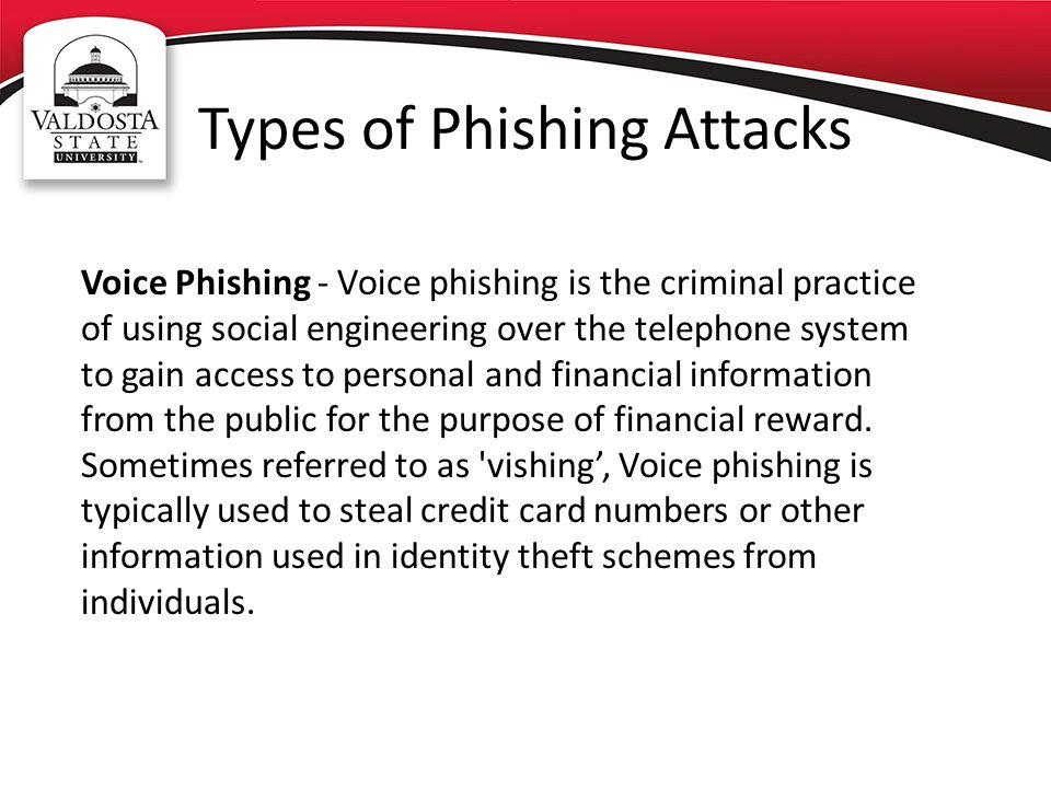 Types of Phishing Attacks