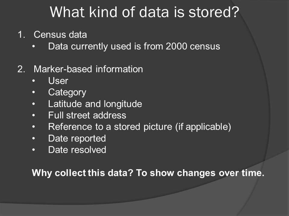 What kind of data is stored