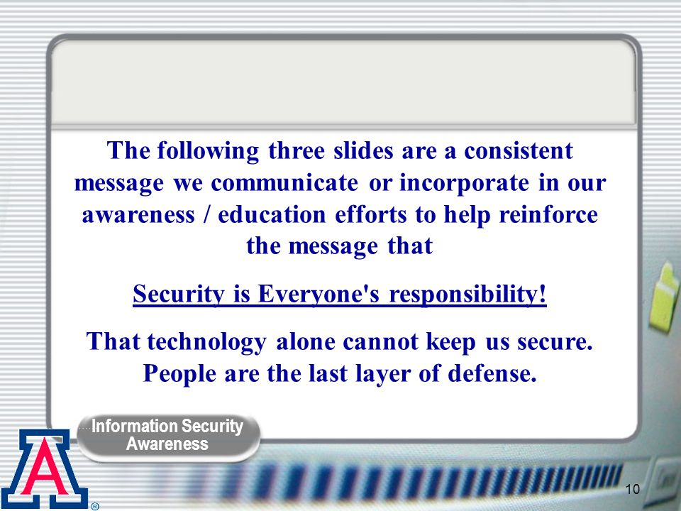 Security is Everyone s responsibility!