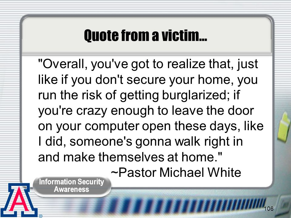 Quote from a victim…