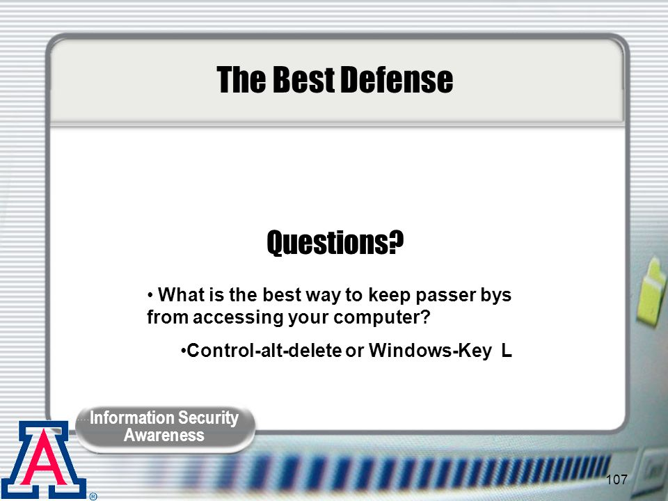 The Best Defense Questions