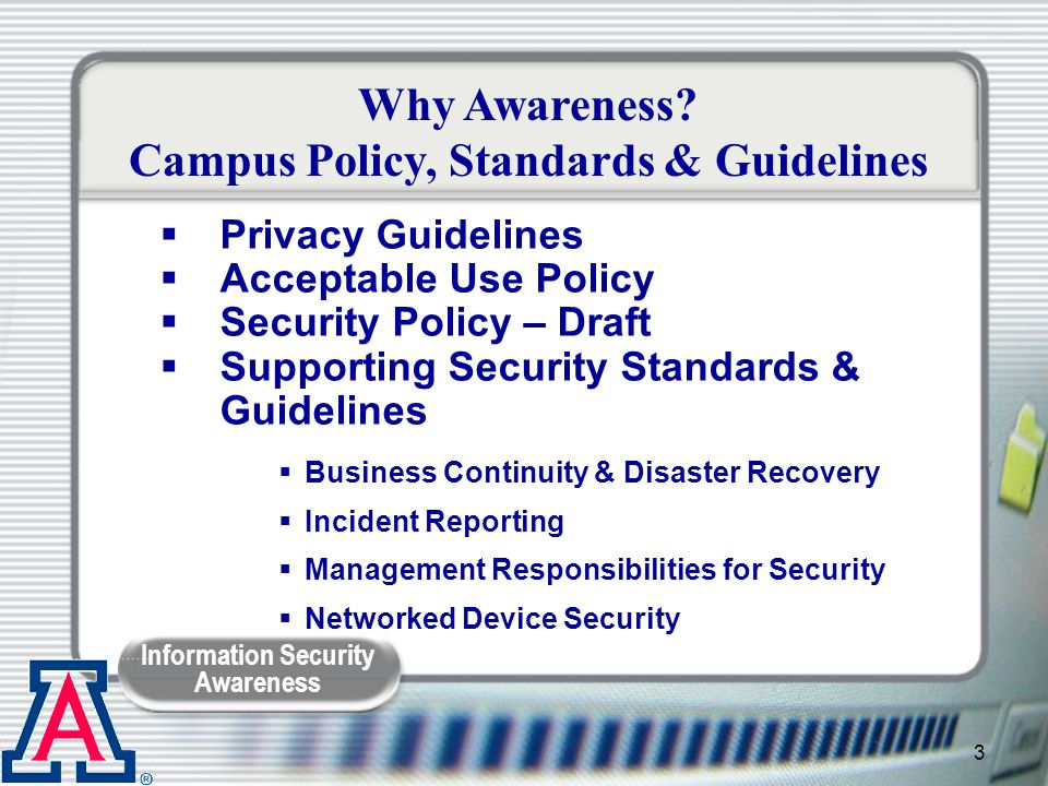 Campus Policy, Standards & Guidelines