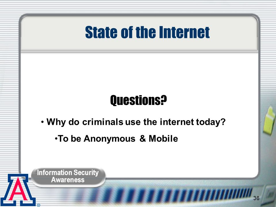 State of the Internet Questions