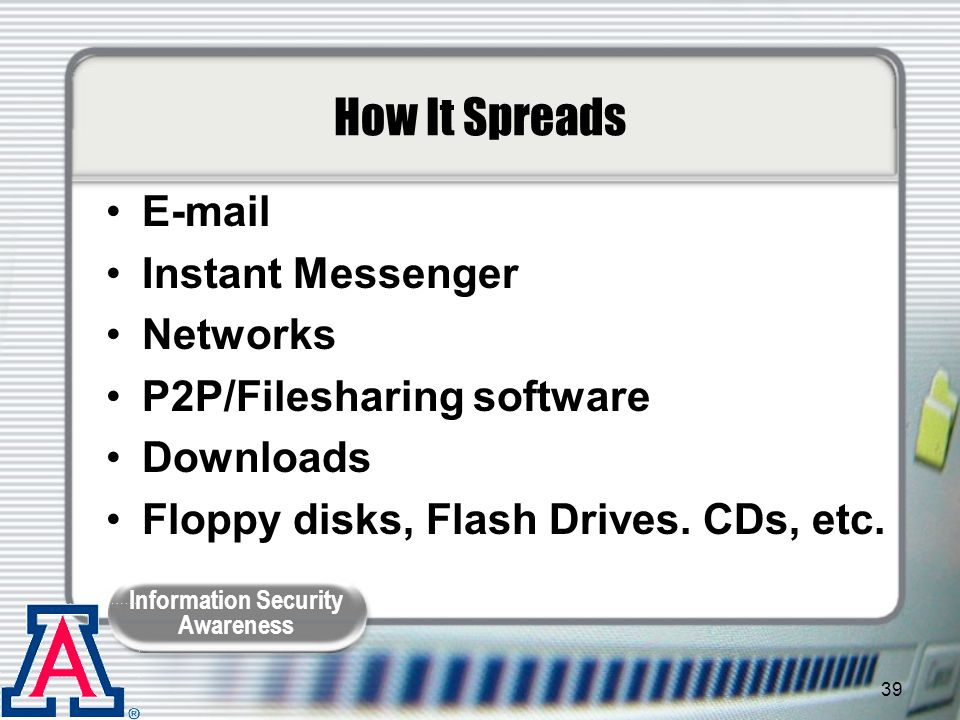 How It Spreads E-mail Instant Messenger Networks