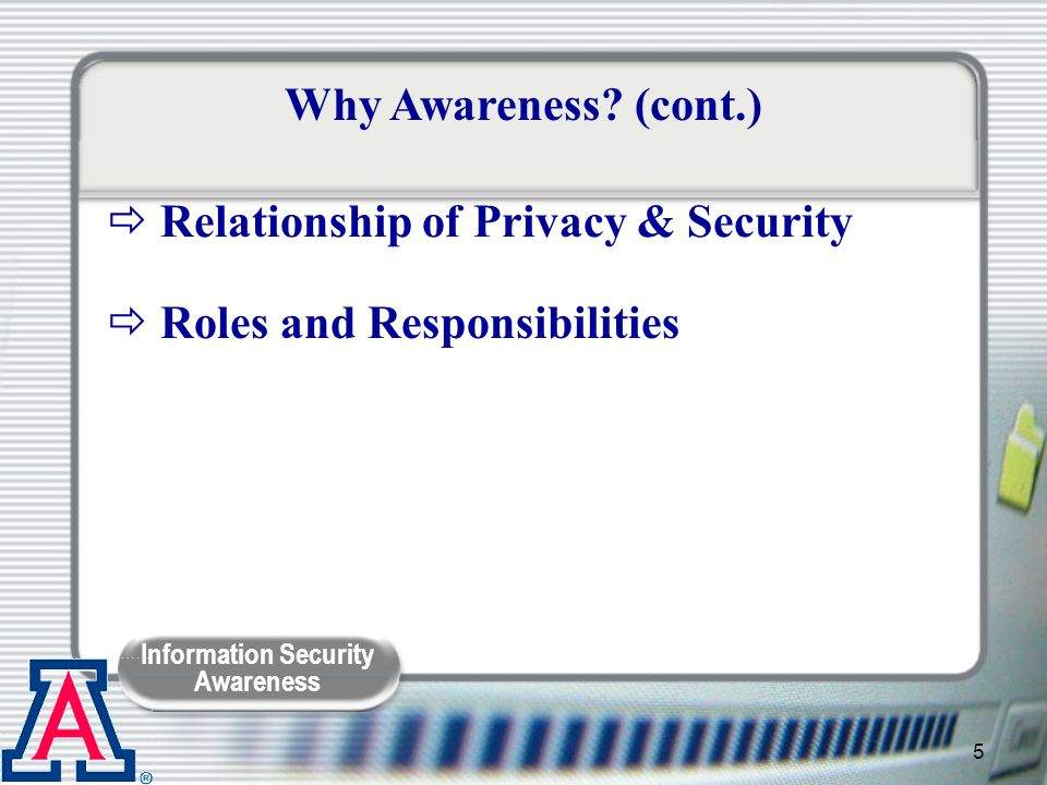 Relationship of Privacy & Security