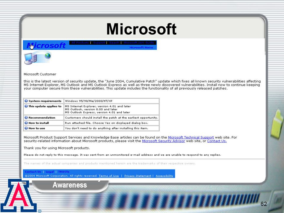 Microsoft Kelley: Even Microsoft is not immune.