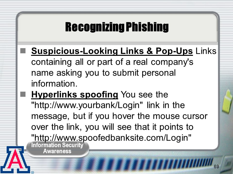 Recognizing Phishing