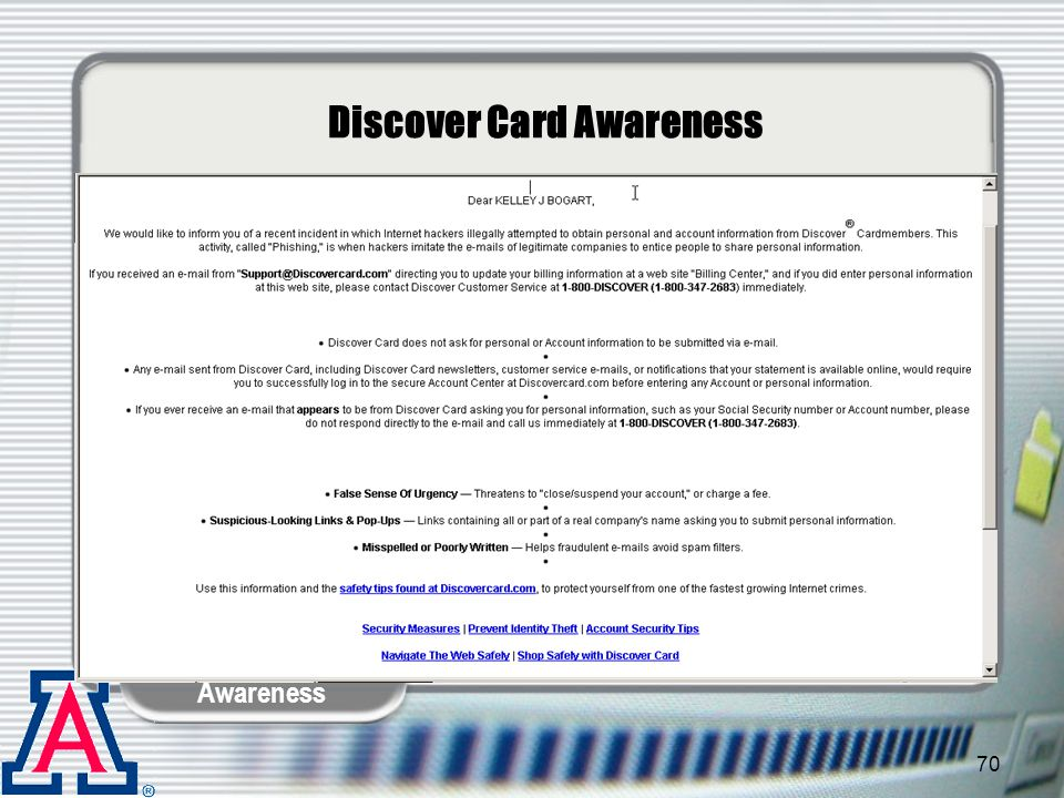 Discover Card Awareness