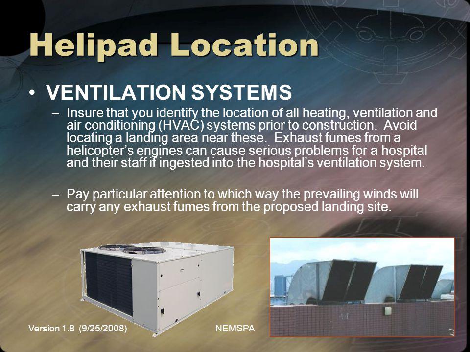 Helipad Location VENTILATION SYSTEMS