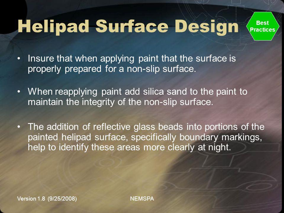 Helipad Surface Design