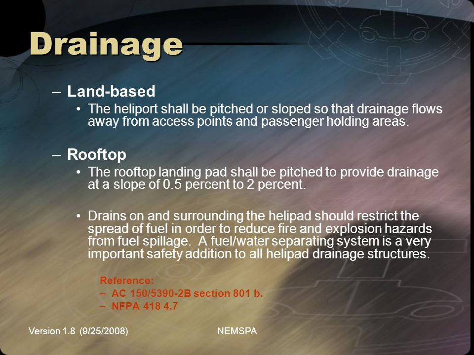 Drainage Land-based Rooftop